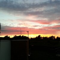 Aug '13 Sunset over the Observatory© MSAS
