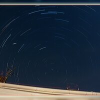 Star Trails and Meteor© Ron Peet